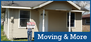 Mover Truck Moving a House - House Movers
